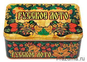 Русское лото в жестяной коробочке
